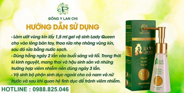 Cách sử dụng dung dịch lady queen lan chi