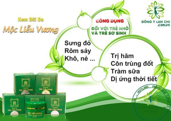 Công dụng kem bôi da Mộc Liễu Vương Lan Chi