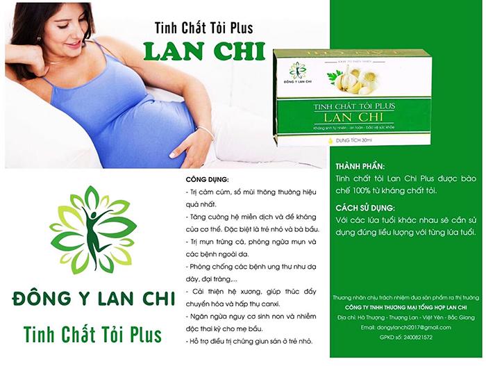 Tác dụng của tinh chất tỏi Lan Chi