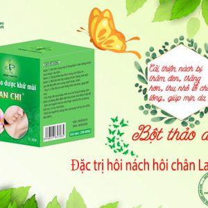 Mẫu sản phẩm đặc trị khử mùi hôi nách hôi chân Lan Chi
