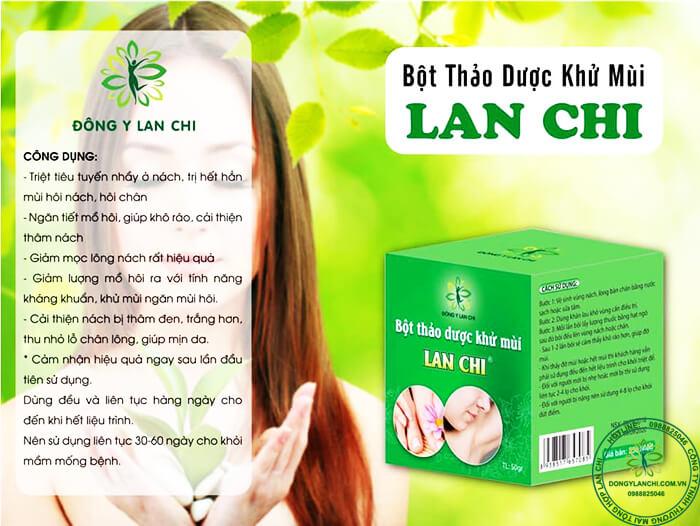 Công dụng khử mùi hôi nách hôi chân Lan Chi