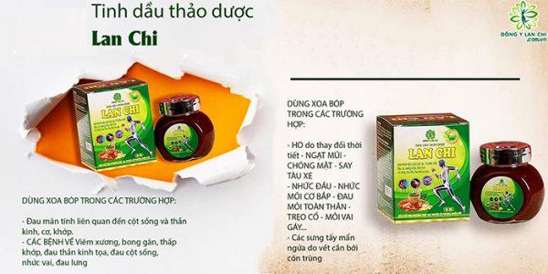 Sử dụng tinh dầu xương khớp Lan Chi