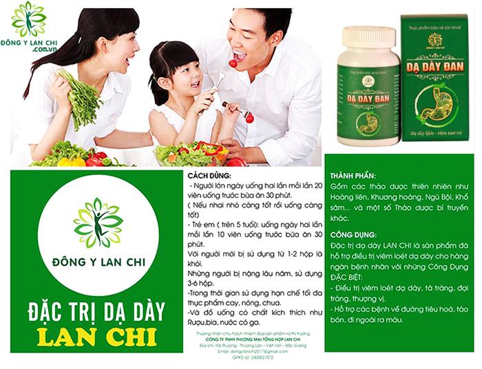 Thành phần viên uống dạ dày Lan Chi