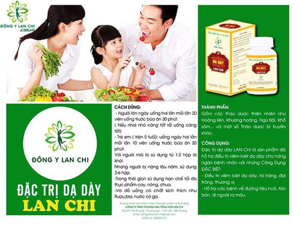 Thành phần viên uống đặc trị dạ dày Lan Chi