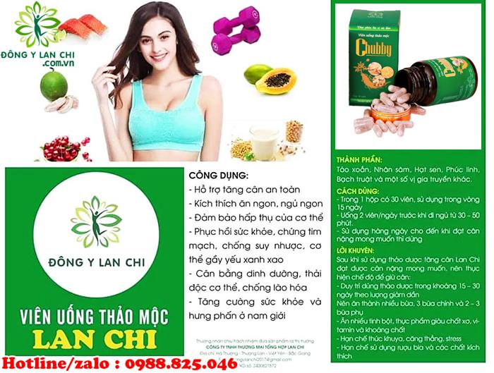 Cách sử dụng viên uống tăng cân Lan Chi