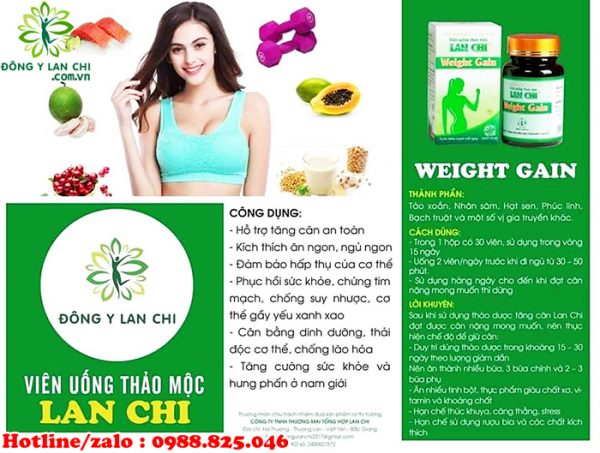 Cách sử dụng tăng cân Lan Chi
