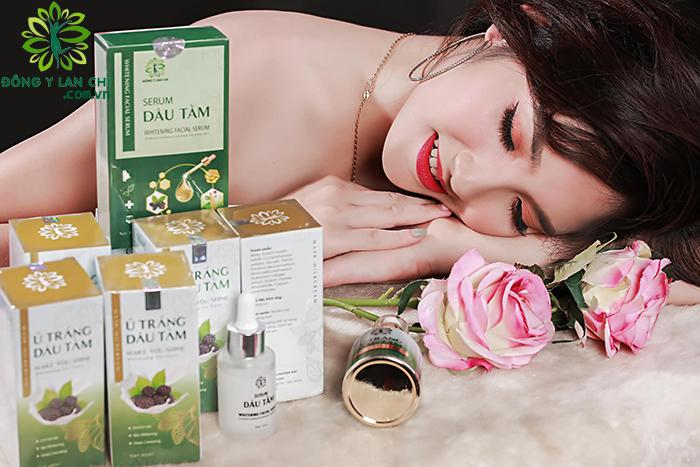 Hình ảnh sản phẩm ủ trắng và serum dâu tằm Lan Chi