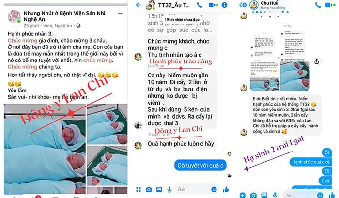 Hàng loạt Feedback, lời cảm ơn của khách hàng gửi đến các đại lý của Công ty Lan Chi.